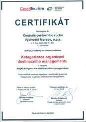 Kategorizace organizací destinačního managementu 2019